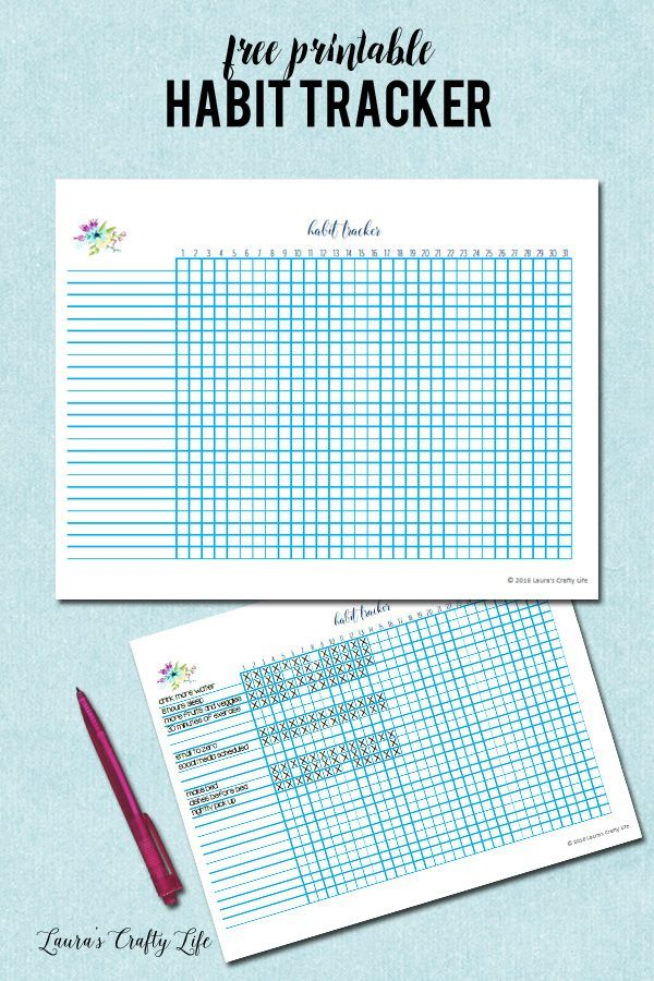 Habit Tracker. Download this free printable habit tracker to keep track of any new habits you are wanting to create for the month. Perfect for goal setting.
