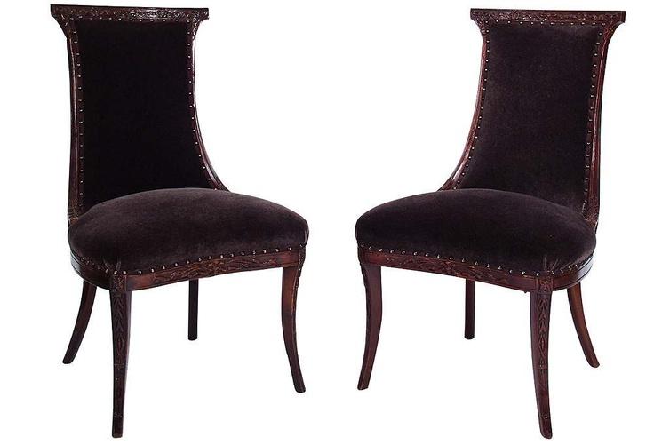 ... Studio Sharon Brown Wood Modern Dining Chairs ($158.10 List Price