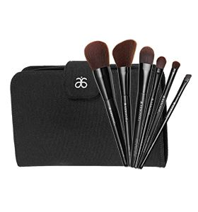 Arbonne Cosmetics Brush Set from Arbonne - Have a brush with greatness. Our specially designed brushes give you all the tools to create the perfect beauty look. You'll love their super soft feel and natural wood handles — plus they come in a chic canvas case with a pocket for makeup extras. Six brushes: Liquid Foundation, Powder, All Over Eye, Shading, Slant and Cheek. JeniferHarbaugh.arbonne.com