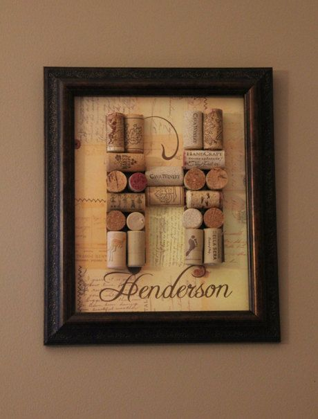 Wine Cork Letter with Custom Name by UniquePhotique on Etsy