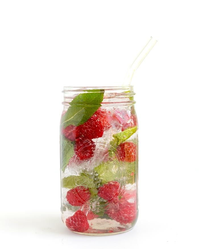 Raspberry Mint Infused Water