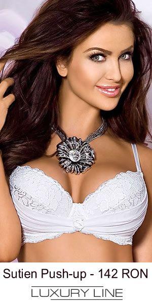 Sutien push-up alb, ideal in combinatie cu rochia de mireasa din ziua nuntii
