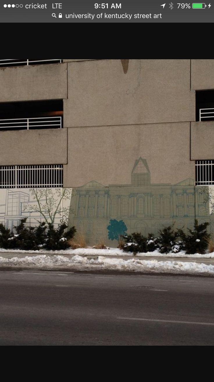 Street art University of Kentucky campus at
