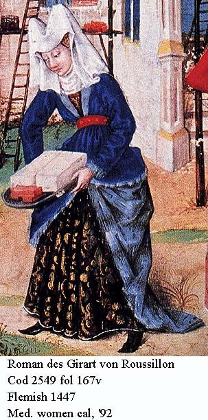 Look @ the fabric in that underdress - and this woman is a masonry worker!