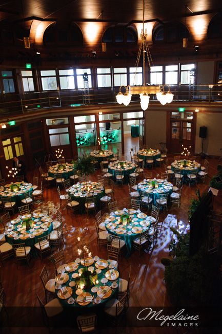 Green And Gold Indiana Landmarks Center Megelaine Images Indianapolis Wedding Reception Venue Venues Indy Pinterest