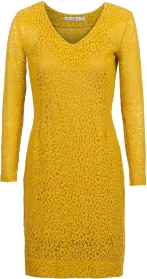 Yellow wool lace