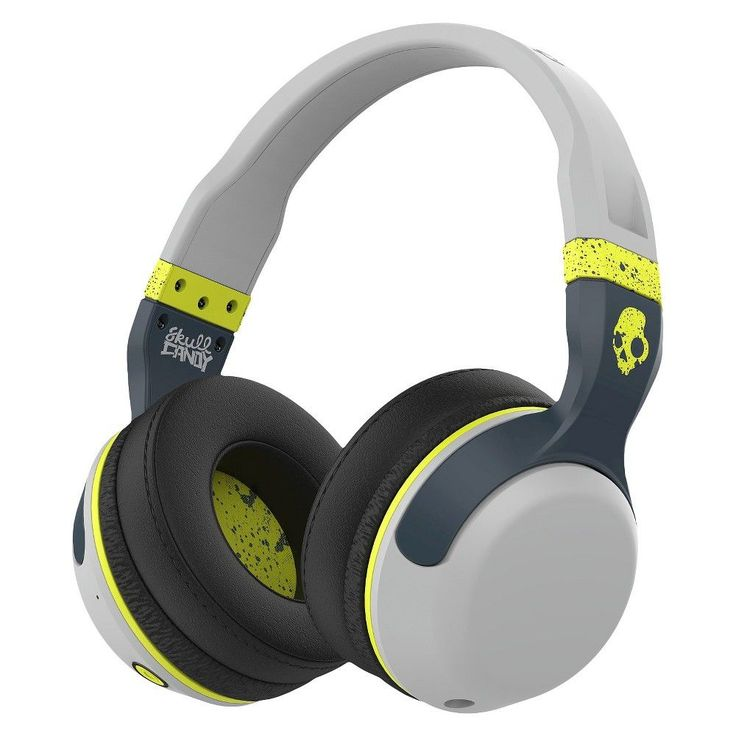 Skullcandy Hesh 2.0 Bluetooth Headphone with Mic - Lime/Gray (S6HBGY-384), Gray/Green