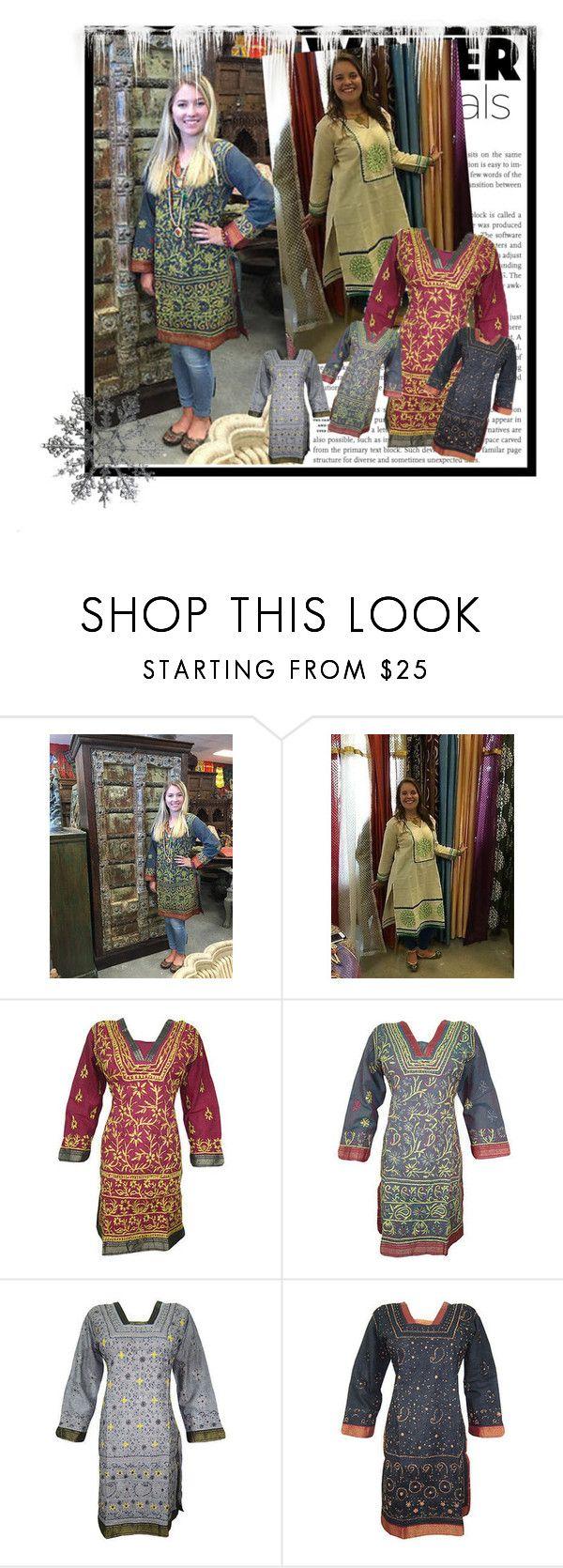Ethnic Embroidered Long Tunic Dress by baydeals on Polyvore featuring dress, summerstyle, tunic, kurti and cottonkurti   http://stores.ebay.com/mogulgallery/DESIGNER-KURTI-/_i.html?_fsub=665889019&_sid=3781319&_trksid=p4634.c0.m322