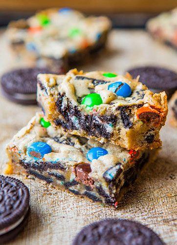 Brownie aux Oréos et M&M'sRecettes de desserts – Les meilleurs recettes de gateaux | La meilleure recette sur 1001dessert.com