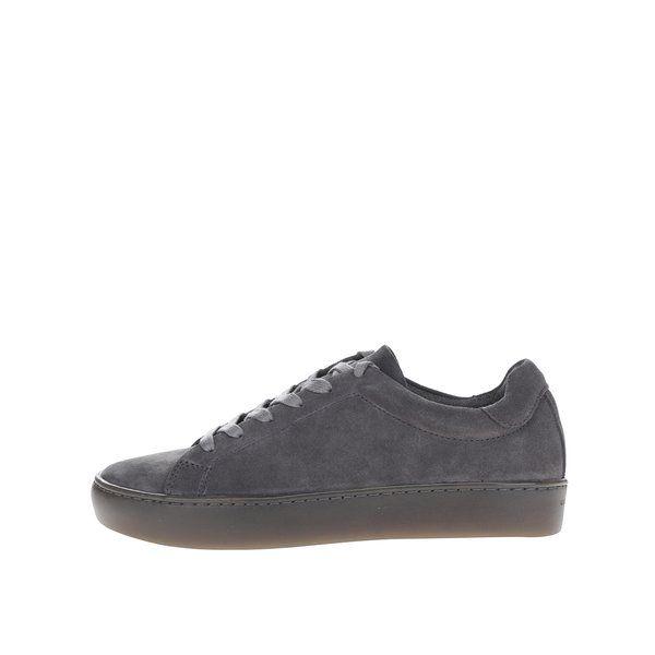 Pantofi sport gri din piele intoarsa Vagabond Zoe - - realizati din piele intoarsa - varf rotunjit - inchidere cu siret - talpa cu striatii pentru aderenta Material:exterior - piele naturalainterior - piele naturala, textiltalpa - sinteticDimensiune pentru marimea 37: inaltime talpa - 3 cm