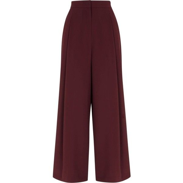 Burgundy side stripe wide leg trousers (4.205 RUB) ❤ liked on Polyvore featuring pants, tall wide leg pants, striped wide leg pants, wide leg pants, red high waisted pants and side stripe pants