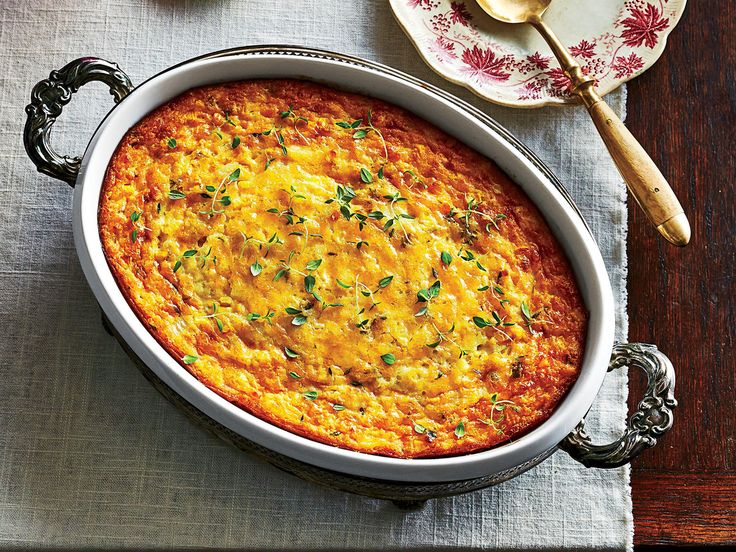 Savory Corn Pudding Recipe   Corn pudding is a staple Southern side dish at any holiday gathering. Corn pudding fits right in at Thanksgiving amongst old-school favorites like mashed potatoes and green bean casserole, and a warm dish of corn pudding is always welcome at Christmas and church potlucks. Although corn pudding is technically a casserole, it has a rich, soft texture that's almost dessert-like. This corn pudding recipe puts a savory spin on the classic with the addition chopped…