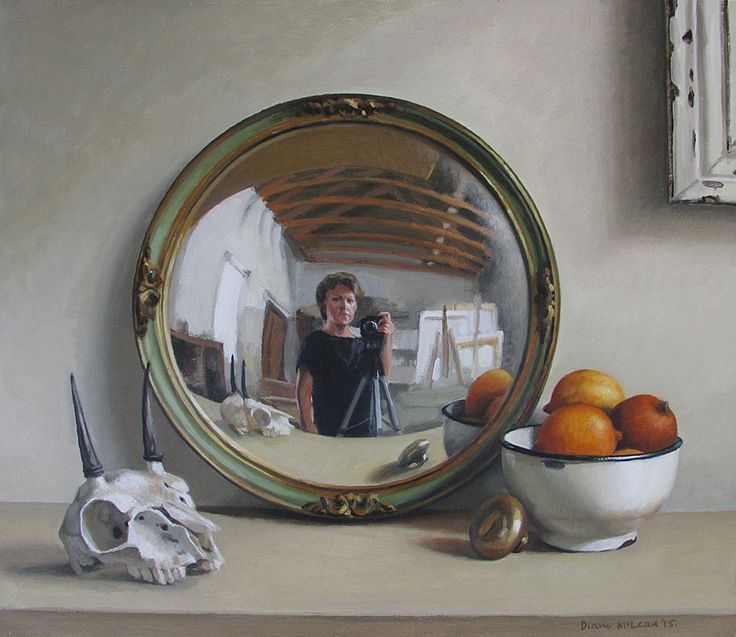 Diane McLean, Self portrait with steenbok skull and old lemons, 2015