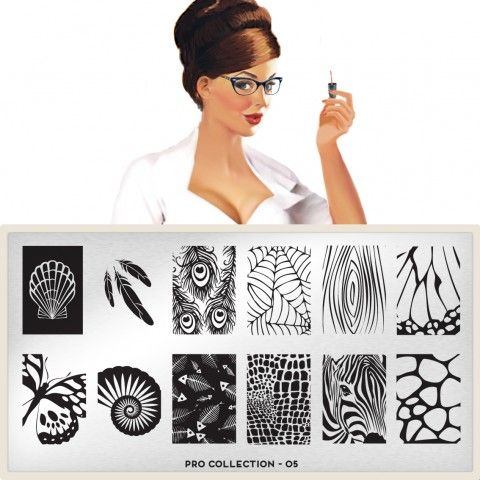Love the Feathers and the Butterfly wing sections on this one! moyou Nail Art design Image Plates-pro collection