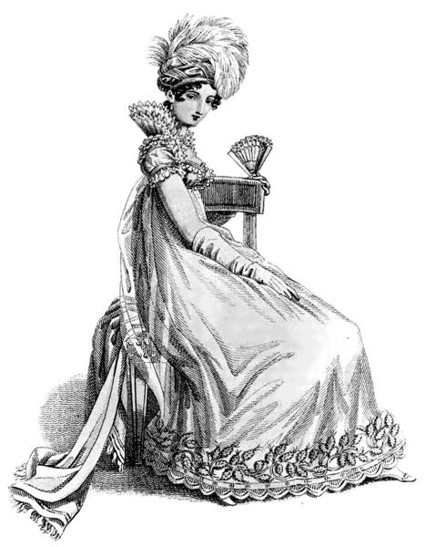 Ball Gown, 1818. La Belle Assemblee. Wikimedia Commons