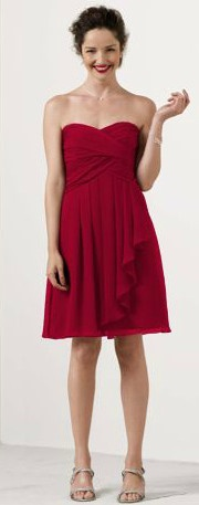 Bridesmaid Dresses In Apple Red