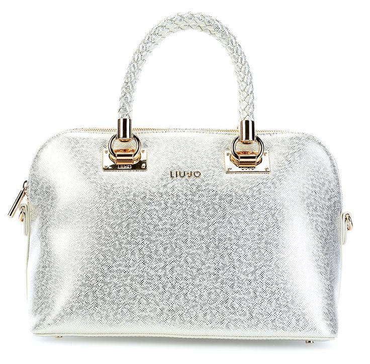 wardow.com -  #bag #metallic #glitter #silber #LiuJo Anna Handtasche gold 35 cm