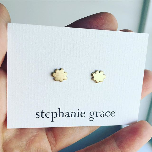 Some of my favourite earrings  little gold clouds for the dreamers out there xxx 9ct yellow gold $145 on my website www.stephaniegrace.co.nz
