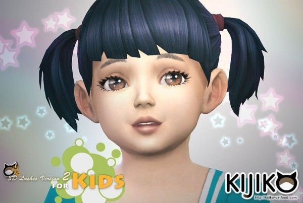 Kijiko: 3D Lashes Version2 for Kids • Sims 4 Downloads