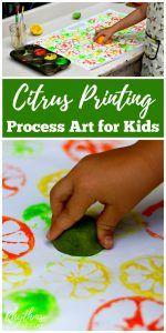 Citrus Printing Process Art for Kids