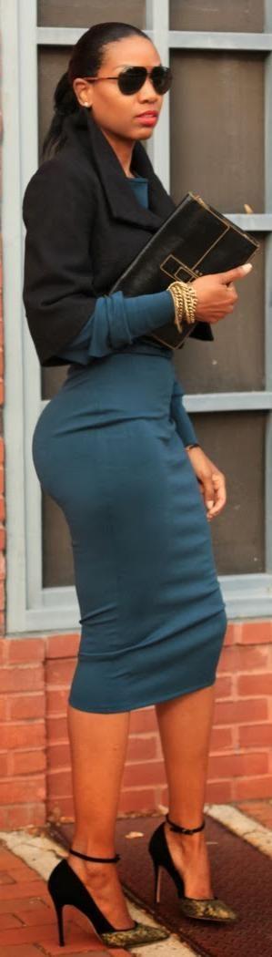 DIY High Waisted Midi Pencil Skirt