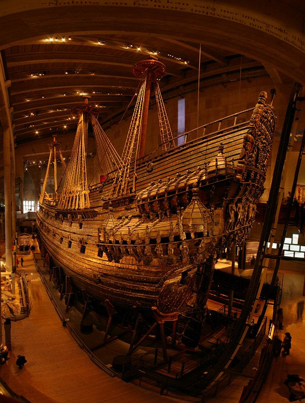 Vasa Museum - This incredible ship went down on its maiden voyage as it was leaving the harbor. It remained at the bottom of the harbor for 300 years until researchers actually lifted up the entire thing in one piece. It's now a museum in Stockholm, Sweden.