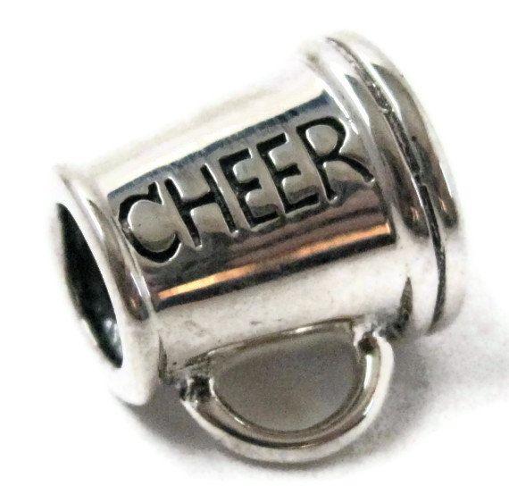 Cheerleading Megaphone Charm Bracelet Bead 925 by FashionStella2, $18.95