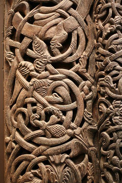 Norwegian Carved Door Detail By Donab Via Flickr