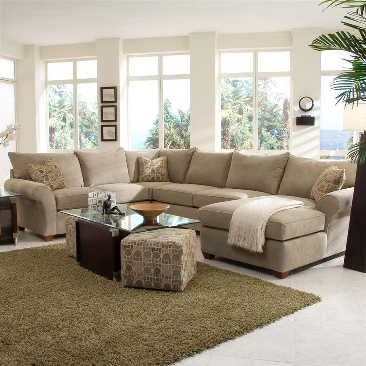 Fletcher Sectional with Chaise Lounge by Klaussner