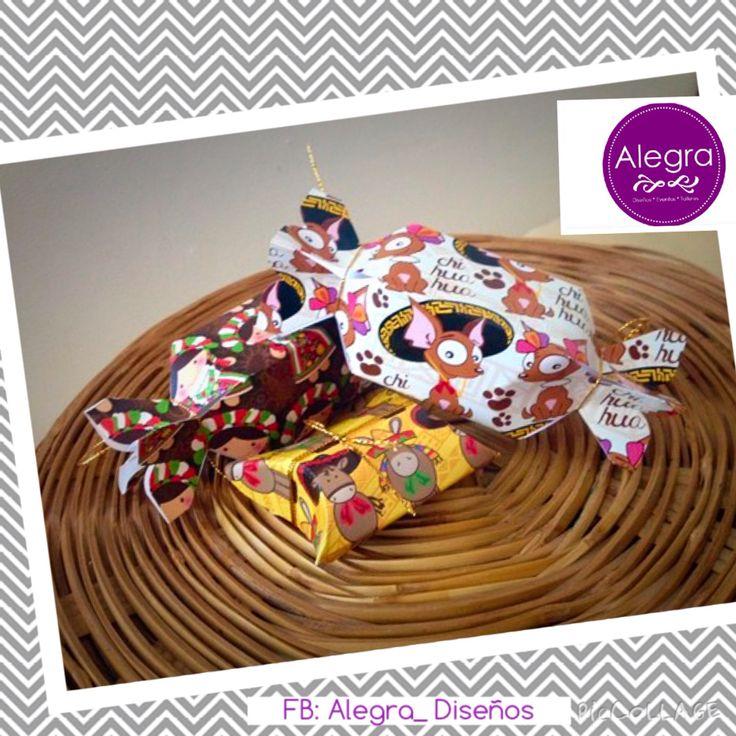Cajas mexicanas perro chihuahua, burritos y Marías