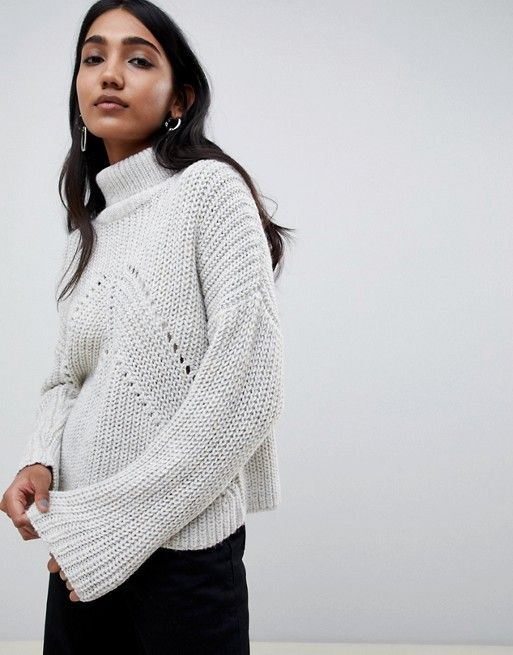 f24e0b606 DESIGN roll neck sweater in moving rib stitch | S T Y L E | Roll ...