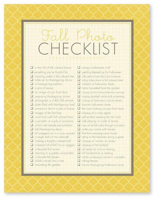 fall photos checklistPhotos Checklist, Fall Photography, Photos Ideas, Photo Ideas, Check Lists, Fall Checklist, Photo Challenges, Fall Photos, Photos Challenges
