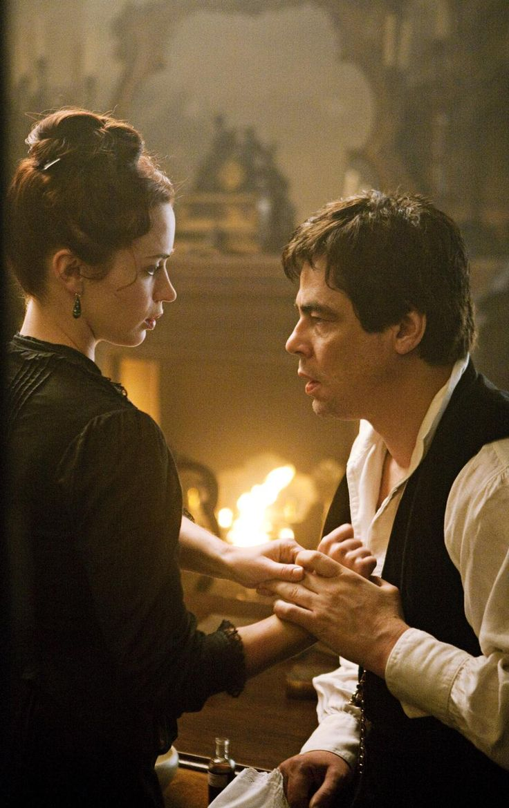 Benicio del Toro & Emily Blunt in Wolfman. #quote- It must be a wonderful luxury doing battle with imaginary demons, Mr. Talbot. Mine right now are very real.