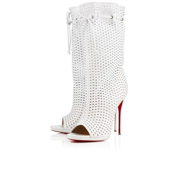 knock off mens shoes - Christian Louboutin Jennifer 120mm open toe lightweight perforated ...