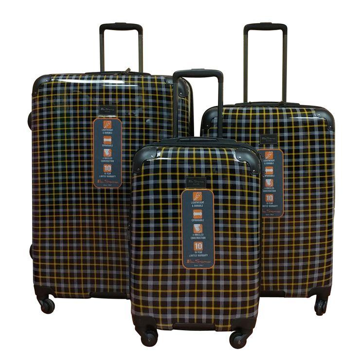 Ben Sherman 3-Piece Lightweight Hardside Spinner Luggage Set