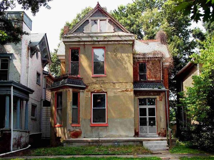 Restoration Opportunity In This Full Brick Queen Anne Circa 1880 Features Rare Details Including Asymmetrical Abandoned Housesold