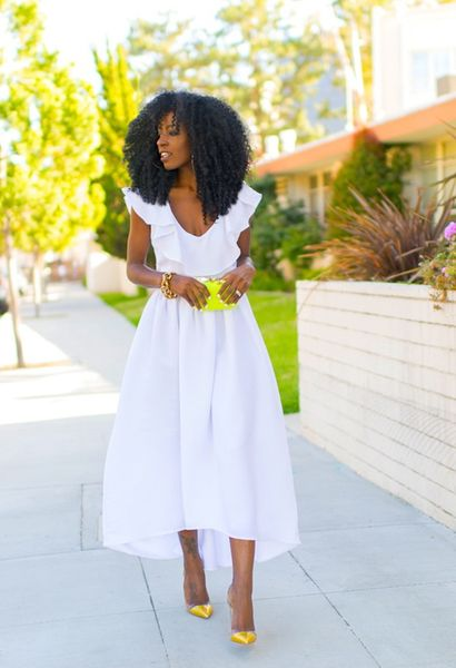 White Tea Length Dress - Get this look: https://www.lookmazing.com/images/view/19751?e=1shrid=329_pin