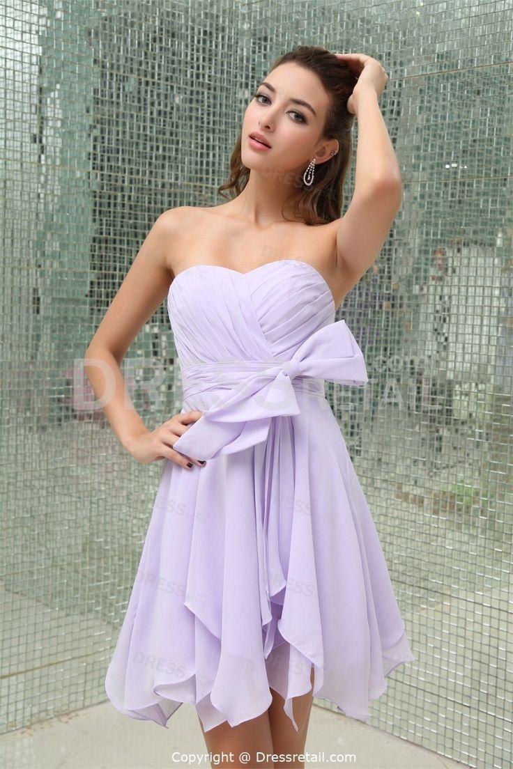 Lilac Short Mini Satin Sweetheart Petite Bridesmaid Dress In Lilac Bridesmaid Dresses