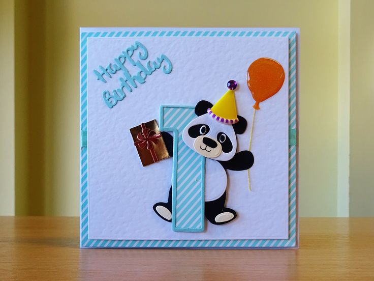 Birthday Card, Handmade - Marianne Panda Die With Tonic ...