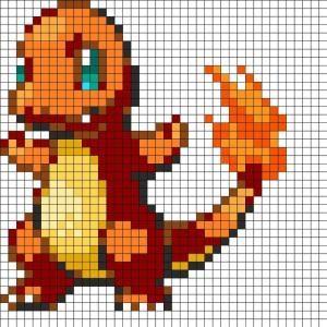 Pokemon Charmander Fuse Bead Perler Pattern Perler Bead Pattern | Bead Sprites | Characters Fuse Bead Patterns by clara