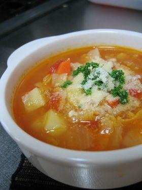 具だくさんミネストローネ http://cookpad.com/recipe/344950