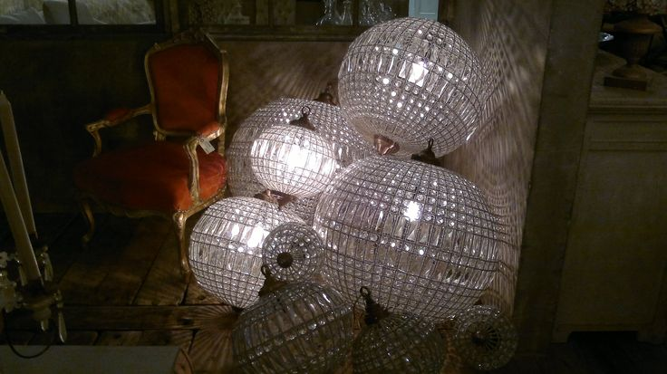 Lámparas cristales diferentes tamaños