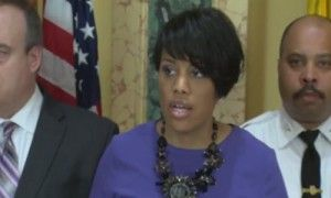Protests in Baltimore over death of black man Mayor Stephanie Rawlings-Blake