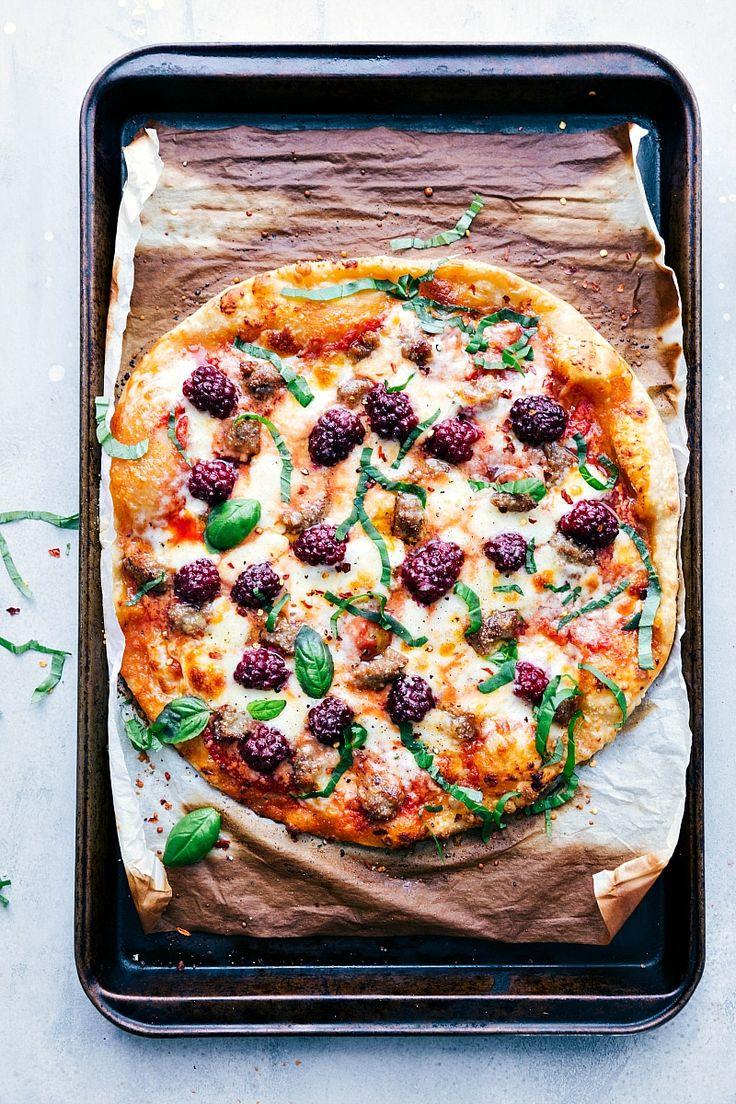 30-Minute Blackberry Basil Pizza | Chelsea's Messy Apron