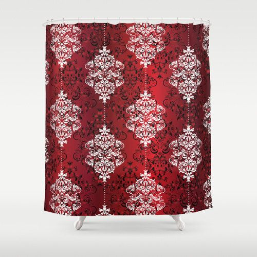 black and red shower curtain set. Red Shower Curtain Floral Black Art by NikaLim Best 25  shower curtains ideas on Pinterest and black