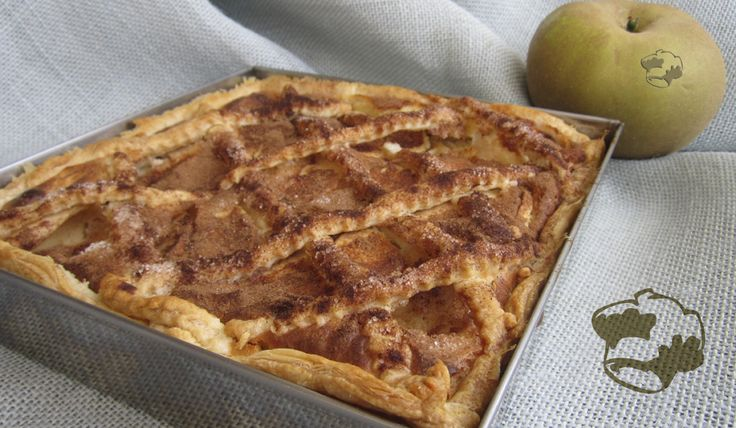 Cheese apple cake with beans