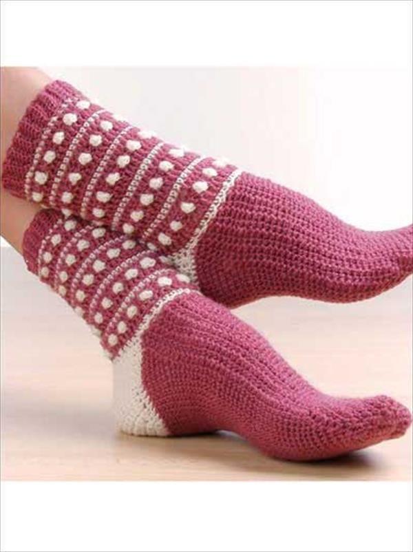 6 free Crochet Socks Pattern | 101 Crochet