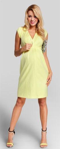 Lorena lime нарядное платье для беременных и кормящих