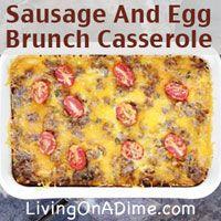Sausage And Egg Brunch Casserole Recipe