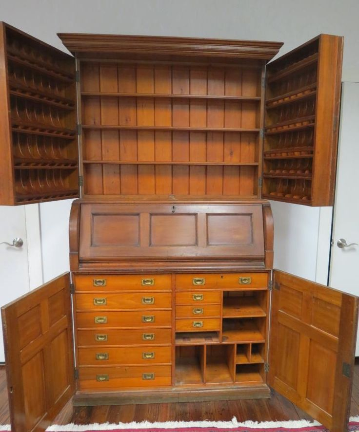 19TH C PHARMACEUTICAL APOTHECARY CABINET: